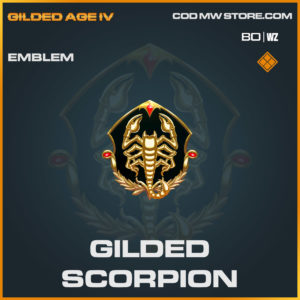 gilded scorpion emblem in Cold War and Warzone