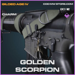 golden scorpion charm in Cold War and Warzone