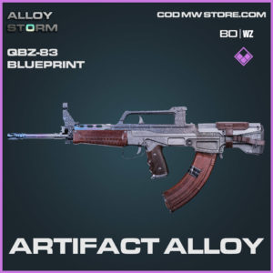 Artifact Alloy QBZ-83 blueprint skin in Cold War and Warzone