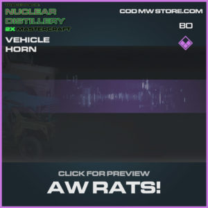Aw Rats Vehicle Horns in Cold War and Warzone