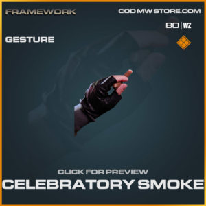 Celebratory Smoke gesture in Cold War and Warzone