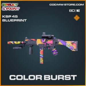Color Burst KSP 45 blueprint skin in Cold War and Warzone