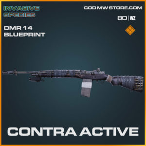 Contra Active DMR 14 blueprint skin in Cold War and Warzone