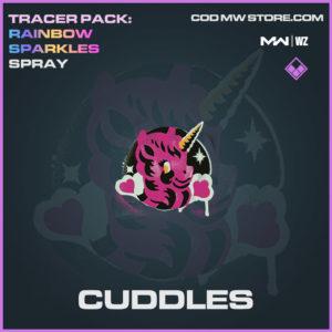 Cuddles spray in Warzone and Modern Warfare