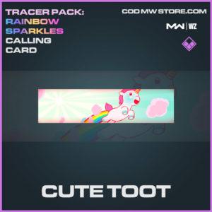 Cute Toot calling card in Warzone and Modern Warfare