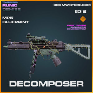 Decomposer MP5 blueprint skin in Cold War and Warzone