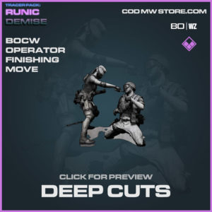 Deep Cuts Operator Finishing Move in Cold War and Warzone