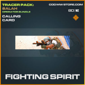 Fighting Spirit calling card in Cold War and Warzone