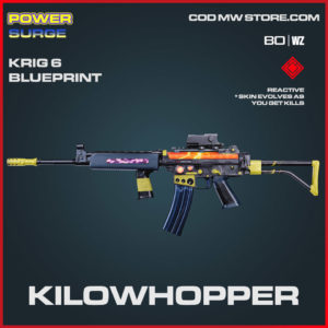 Kilowhopper Krig 6 blueprint skin in Cold War and Warzone