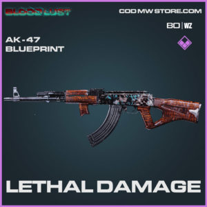Lethal Damage AK-47 Blueprint in Cold War and Warzone