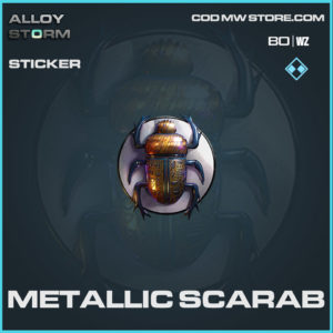 Metallic Scarab sticker in Cold War and Warzone