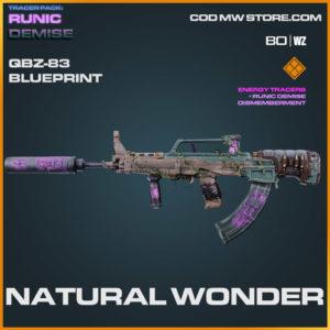 Natural Wonder QBZ-83 blueprint skin in Cold War and Warzone