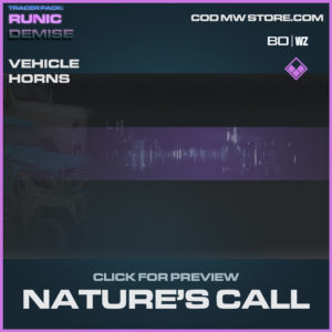 Nature's Call Vehicle horns in Cold War and Warzone
