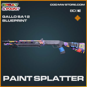 Paint Splatter Gallo SA12 blueprint skin in Cold War and Warzone