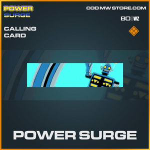 Power Surge calling card in Cold War and Warzone