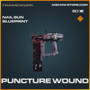 Puncture Wound Nail Gun blueprint skin in Cold War and Warzone