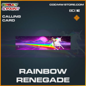 Rainbow Renegade calling card in Cold War and Warzone