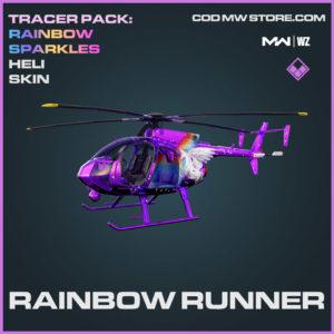Rainbow Runner Heli Skin in Warzone and Modern Warfare