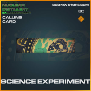 Science Experiment calling card in Cold War and Warzone