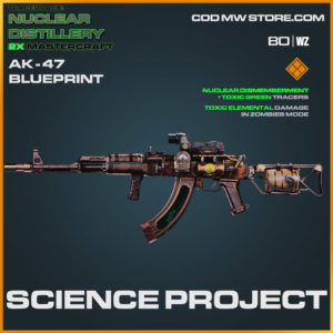 Science Project AK-47 blueprint skin in Cold War and Warzone