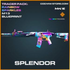 Splendor M13 skin blueprint in in Warzone and Modern Warfare