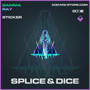 Splice & Dice Sticker in Cold War and Warzone
