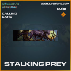 Stalking Prey calling card in Cold War and Warzone