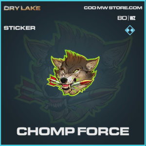 chomp force sticker in Cold War and Warzone