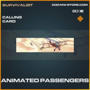 Animated Passengers calling card in Warzone and Cold War