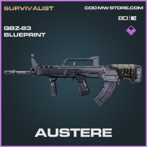 Austere QBZ-83 blueprint skin in Warzone and Cold War