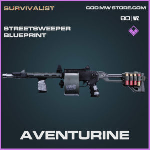 Aventurine Streetsweeper blueprint skin in Warzone and Cold War