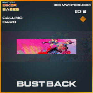 Bust Back calling card in Warzone and Cold War
