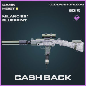 Cash Back Milano 821 blueprint skin in Warzone and Cold War