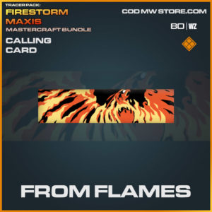 From Flames calling card in Warzone and Cold War