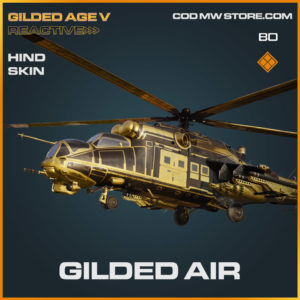Gilded Air Hind skin in Cold War and Warzone