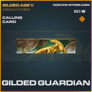 Gilded Guardian calling card in Cold War and Warzone