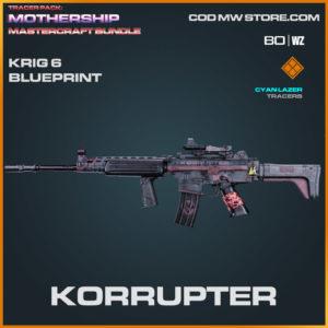Korrupter krig 6 blueprint skin in Warzone and Cold War