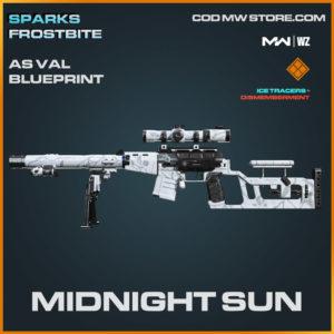 Midnight Sun AS VAL blueprint skin in Modern Warfare and Warzone