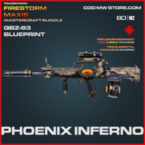 Phoenix Inferno QBZ_83 blueprint skin in Warzone and Cold War