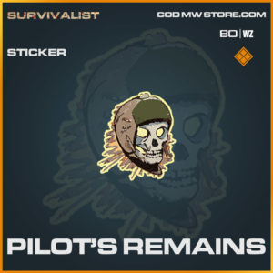 Pilot's Remains sticker in Warzone and Cold War