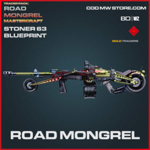Road Mongrel Stoner 63 blueprint skin in Cold War and Warzone