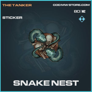 snake nest rare sticker in Cold War and Warzone