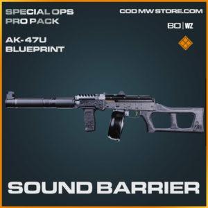 Sound Barrier AK-47u bluerint skin in Warzone and Cold War