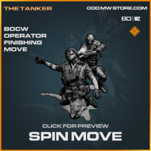 spin move legendary bocw operator finishing move in Cold War and Warzone