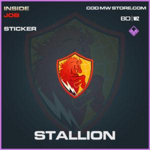 Stallion sticker in Cold War and Warzone