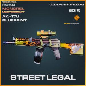 Street Legal AK-47u blueprint skin in Cold War and Warzone