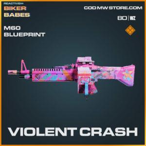 Violent Crash M60 blueprint skin in Warzone and Cold War