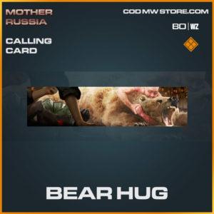 Bear Hug calling card in Warzone and Cold War