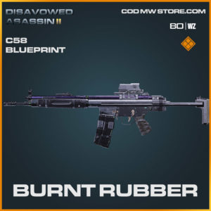 Burnt Rubber C58 blueprint skin in Warzone and Cold War