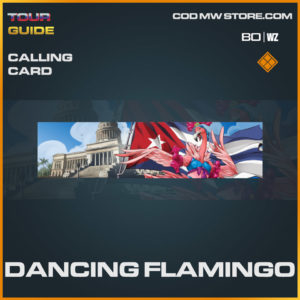Dancing Flamingo calling card in Warzone and Cold War